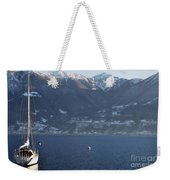 Sailing Boat On A Lake Weekender Tote Bag