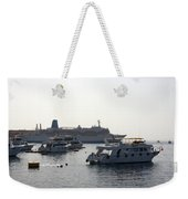 Sailing Boats And A Large Yacht In The Harbour At Sharm El Sheikh Weekender Tote Bag