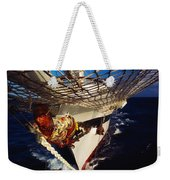 Sailing, Figurehead On The Prow Of A Weekender Tote Bag