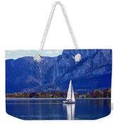 Sailing On Mondsee Lake Weekender Tote Bag by Lauri Novak