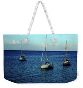 Sailing The Blue Waters Of Greece Weekender Tote Bag