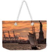 Sailing To Liberty  Weekender Tote Bag