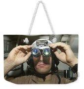 Sailor Adjusts His Anavs-9 Night Vision Weekender Tote Bag