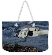 Sailors Attach Pallets Of Supplies Weekender Tote Bag