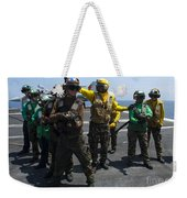 Sailors Fight A Simulated Fire Drill Weekender Tote Bag