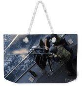 Sailors Fire A Dual-mounted M240 Weekender Tote Bag