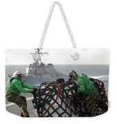 Sailors Move Supplies On The Flight Weekender Tote Bag