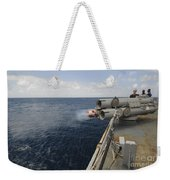 Sailors Observe A Mk-46 Recoverable Weekender Tote Bag