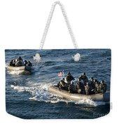 Sailors Participate In A Visit, Board Weekender Tote Bag
