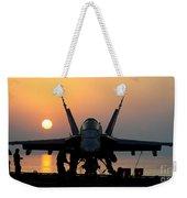 Sailors Prepare An Fa-18c Hornet Weekender Tote Bag