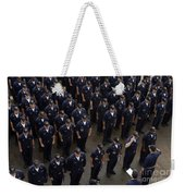 Sailors Stand At Attention During An Weekender Tote Bag