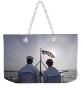 Sailors Stand By To Lower The Ensign Weekender Tote Bag