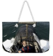 Sailors Stand Watch From The Bridge Weekender Tote Bag