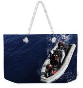 Sailors Stand Watch On A Rigid-hull Weekender Tote Bag