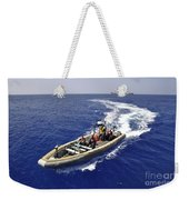 Sailors Transit An Inflatable Boat Weekender Tote Bag