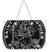 Saint Christopher Medal Weekender Tote Bag