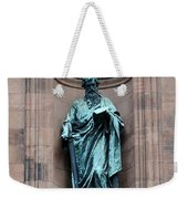 Saint Peter Statue - Historic Philadelphia Basilica Weekender Tote Bag
