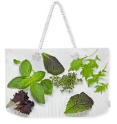 Salad Greens And Spices Weekender Tote Bag by Joana Kruse