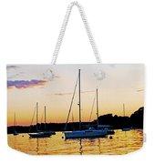 Salem Harbor Amber Sunset Weekender Tote Bag