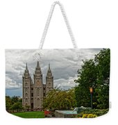 Salt Lake City Temple Grounds Weekender Tote Bag