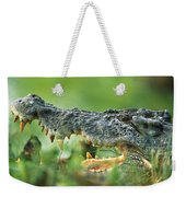 Saltwater Crocodile Crocodylus Porosus Weekender Tote Bag by Cyril Ruoso