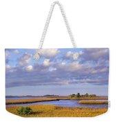 Saltwater Marshes At Cedar Key Florida Weekender Tote Bag by Tim Fitzharris