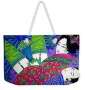 Samurai And Geisha Pillowing Weekender Tote Bag