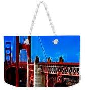 San Francisco Golden Gate Bridge Electrified Weekender Tote Bag