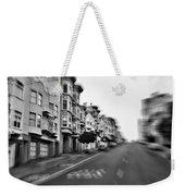 San Francisco Side Street-black And White Weekender Tote Bag