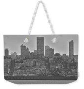 San Francisco Skyline-black And White Weekender Tote Bag