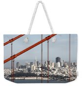 San Francisco Through The Cables Weekender Tote Bag