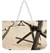 Sand And Fences Weekender Tote Bag by Heather Applegate
