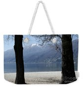 Sand Beach On An Alpine Lake Weekender Tote Bag