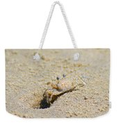Sand Crab Digging His Hole Weekender Tote Bag