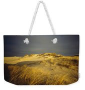 Sand Dunes And Beach Grass In Golden Weekender Tote Bag