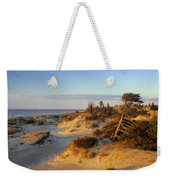 Sand Dunes At Sunset, Lake Huron Weekender Tote Bag