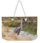 Sandhill Crane Beauty By The Pond Weekender Tote Bag