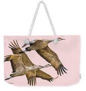Sandhill Crane Family II Weekender Tote Bag