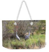 Sandhill Cranes In Colorful Marsh Weekender Tote Bag