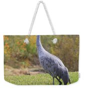 Sandhill In The Grass With Wildflowers Weekender Tote Bag
