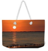 Sandpipers At Sundown Weekender Tote Bag