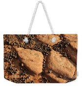 Sandstone And Pebbles Weekender Tote Bag by Gary Whitton