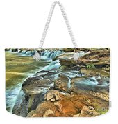 Sandstone Falls In The New River Weekender Tote Bag