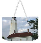 Sandy Hook Lighthouse And Building Weekender Tote Bag