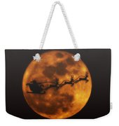 Santa Across The Sky Weekender Tote Bag