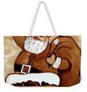 Santa Claus Gifts Original Coffee Painting Weekender Tote Bag