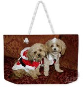 Santa Puppies Weekender Tote Bag