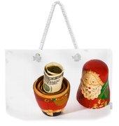 Santa's Surprise Weekender Tote Bag
