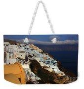 Santorini Cliff View Weekender Tote Bag
