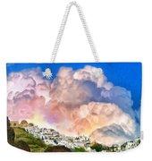Santorini Sunrise Weekender Tote Bag